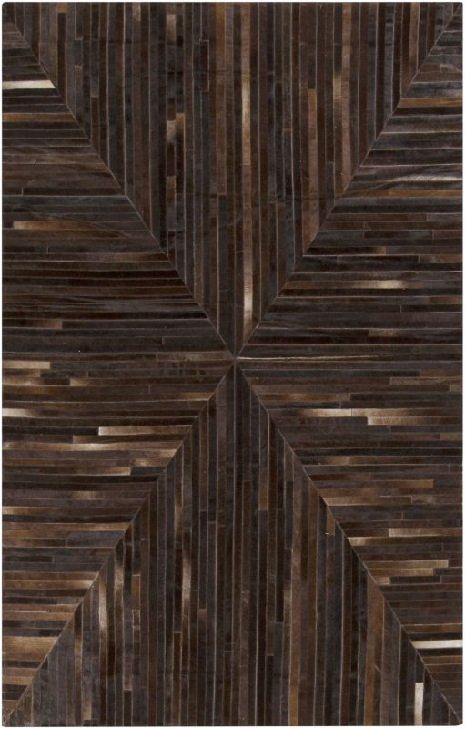 Surya APP-1001 Appalachian Hand Loomed Hide Rug Brown 2 x 3 Home Decor