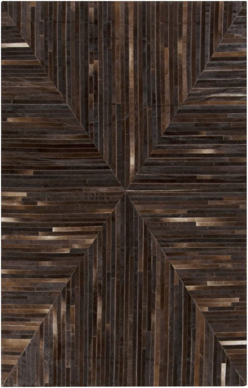 Surya APP-1001 Appalachian Hand Loomed Hide Rug Brown 5 x 8 Home Decor