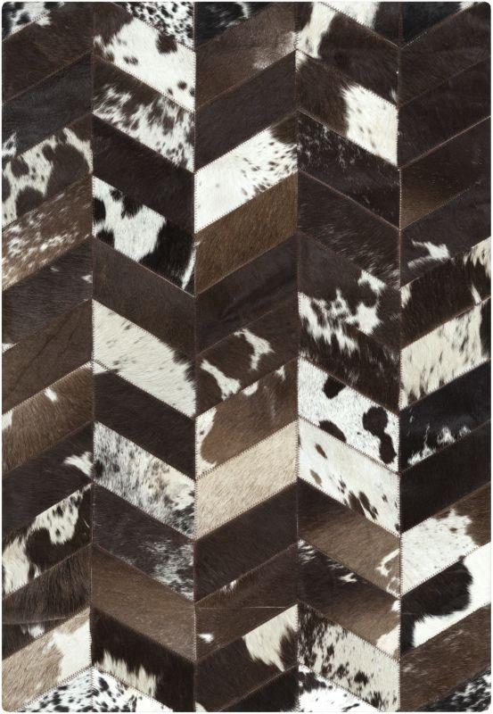 Surya APP-1002 Appalachian Hand Loomed Hide Rug Black 2 x 3 Home Decor