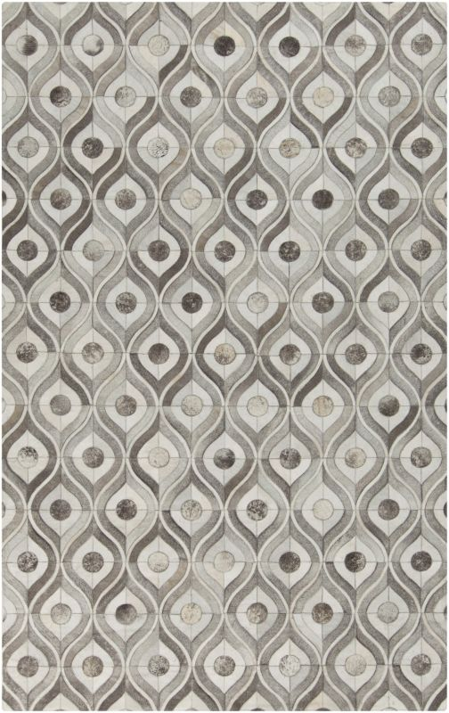 Surya APP-1003 Appalachian Hand Loomed Hide Rug Gray 5 x 8 Home Decor