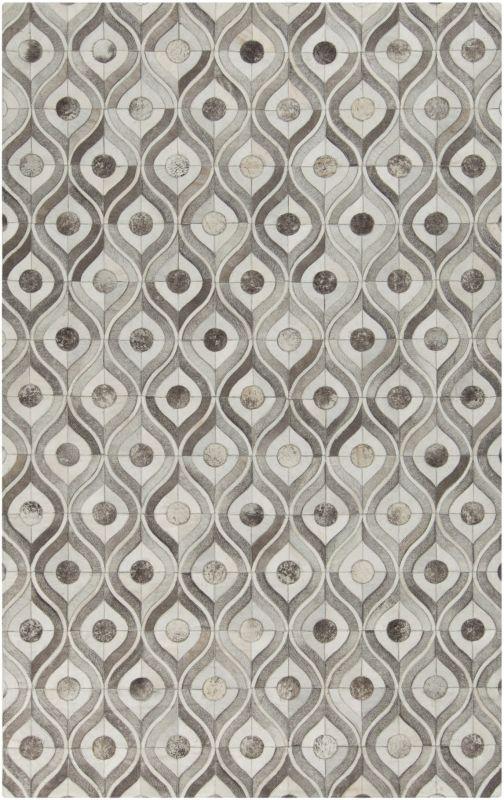 Surya APP-1003 Appalachian Hand Loomed Hide Rug Gray 8 x 10 Home Decor