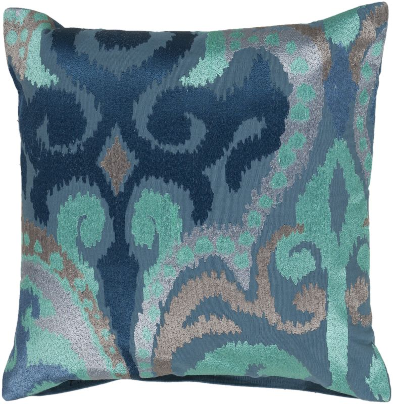 Surya AR-075 Square Indoor Decorative Pillow with Down or Polyester
