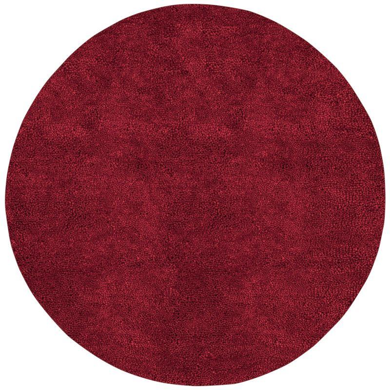 Surya AROS-1 Aros Hand Woven New Zealand Wool Rug Red 10 x 10 Round