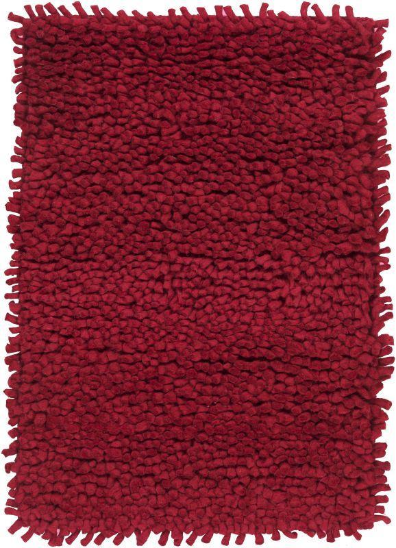 Surya AROS-1 Aros Hand Woven New Zealand Wool Rug Red 2 x 3 Home Decor