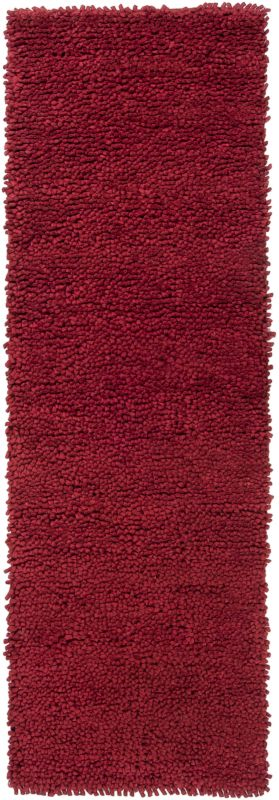 Surya AROS-1 Aros Hand Woven New Zealand Wool Rug Red 2 1/2 x 8 Home