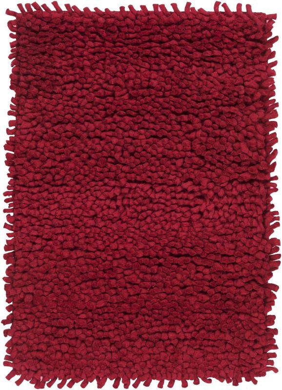 Surya AROS-1 Aros Hand Woven New Zealand Wool Rug Red 3 1/2 x 5 1/2