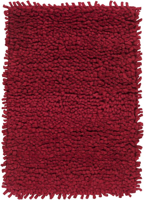 Surya AROS-1 Aros Hand Woven New Zealand Wool Rug Red 8 x 10 1/2 Home