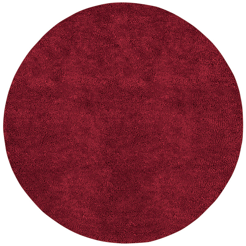 Surya AROS-1 Aros Hand Woven New Zealand Wool Rug Red 8 x 8 Round Home