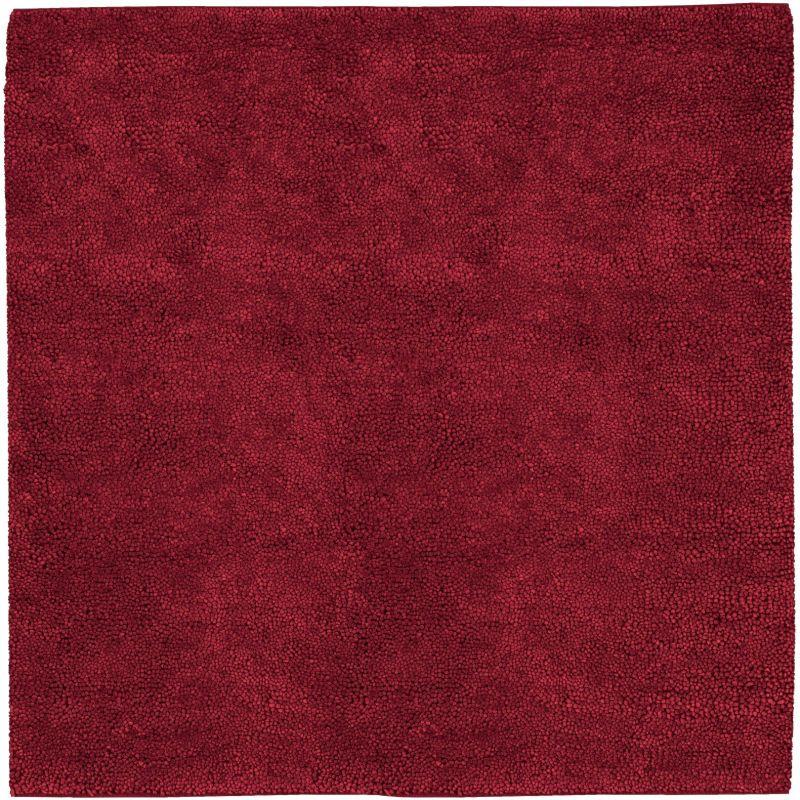 Surya AROS-1 Aros Hand Woven New Zealand Wool Rug Red 8 x 8 Home Decor