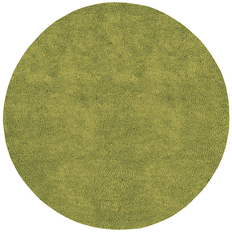 Surya AROS-6 Aros Hand Woven New Zealand Wool Rug Green 8 x 8 Round