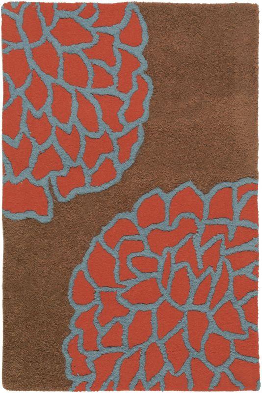 Surya ART-206 Artist Studio Hand Tufted New Zealand Wool Rug Red 2 x 3
