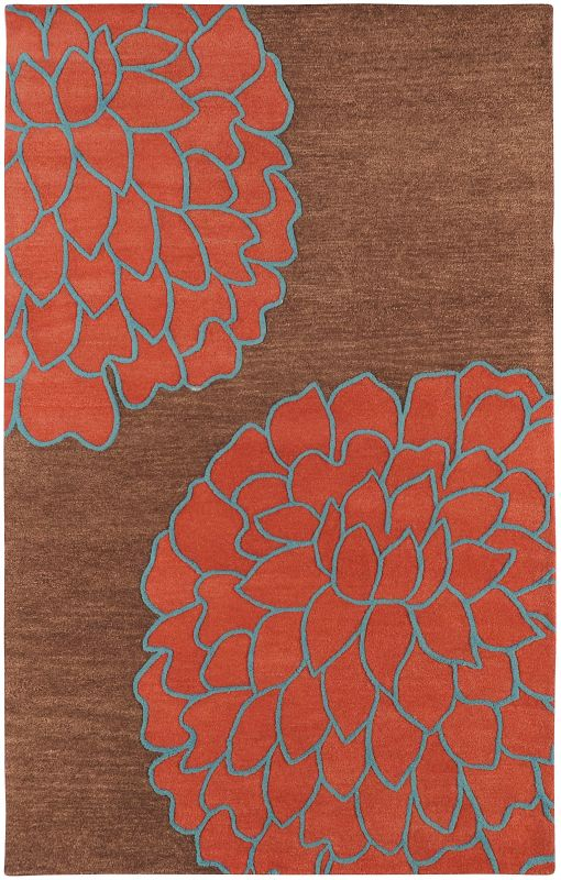 Surya ART-206 Artist Studio Hand Tufted New Zealand Wool Rug Red 5 x 8