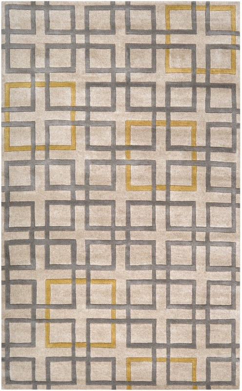Surya ART-231 Artist Studio Hand Tufted New Zealand Wool Rug Gray 5 x