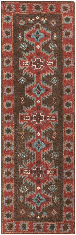 Surya ARZ-1004 Arizona Hand Tufted Wool Rug Brown 2 1/2 x 8 Home Decor