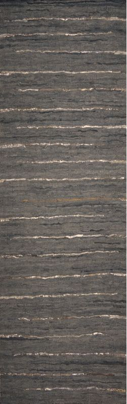 Surya ATE-8001 Anthracite Hand Woven Leather Rug Green 8 x 10 Home