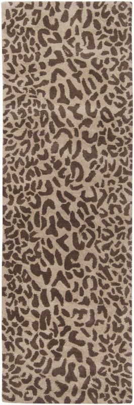 Surya ATH-5000 Athena Hand Tufted Wool Rug Brown 2 1/2 x 8 Home Decor