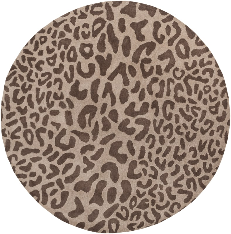 Surya ATH-5000 Athena Hand Tufted Wool Rug Brown 6 x 6 Round Home