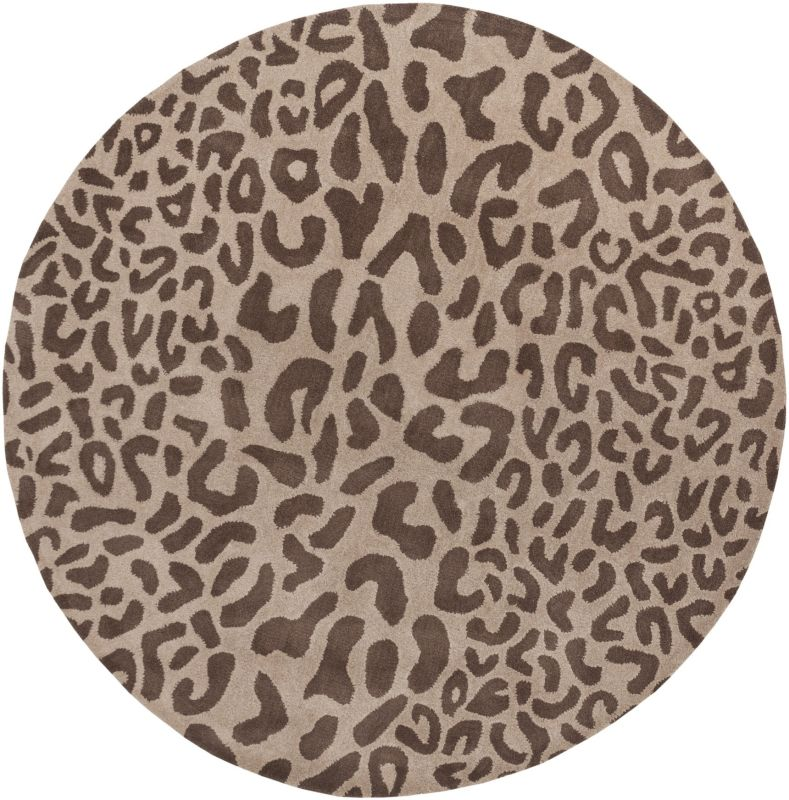 Surya ATH-5000 Athena Hand Tufted Wool Rug Brown 9 1/2 x 9 1/2 Round