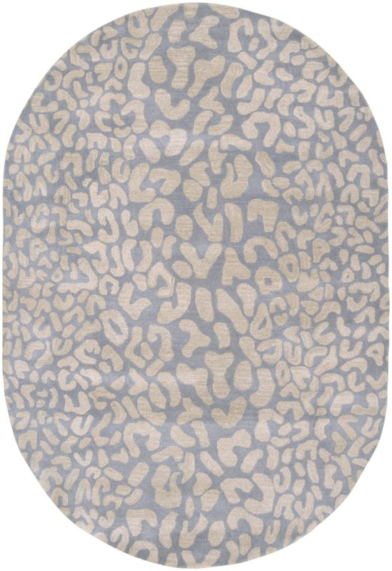 Surya ATH-5001 Athena Hand Tufted Wool Rug Green 6 x 9 Oval Home Decor