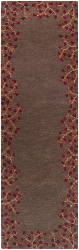 Surya ATH-5003 Athena Hand Tufted Wool Rug Red 2 1/2 x 8 Home Decor