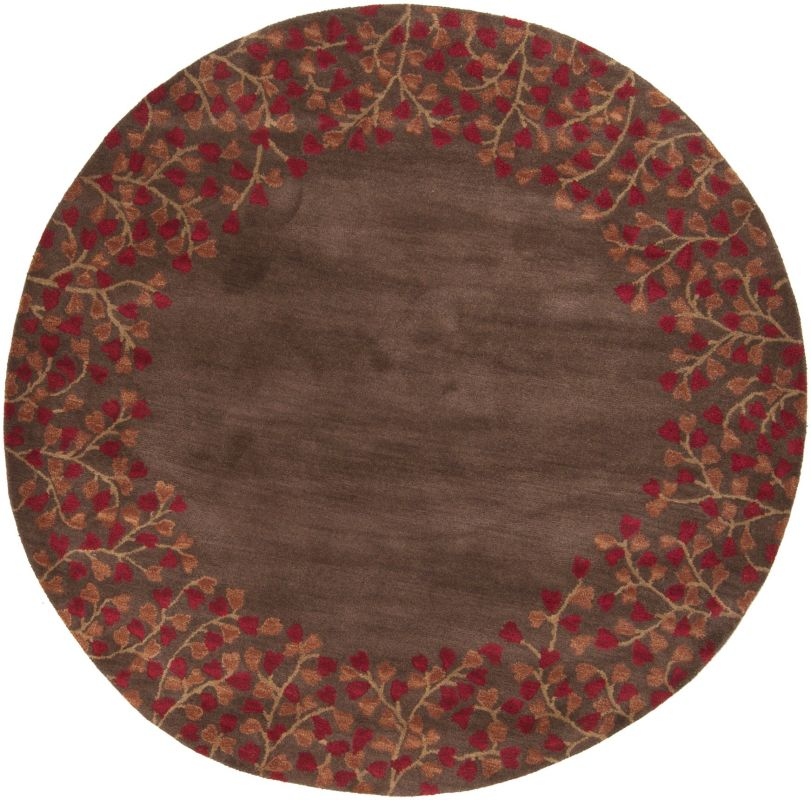 Surya ATH-5003 Athena Hand Tufted Wool Rug Red 4 x 4 Round Home Decor