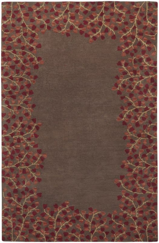 Surya ATH-5003 Athena Hand Tufted Wool Rug Red 5 x 8 Home Decor Rugs