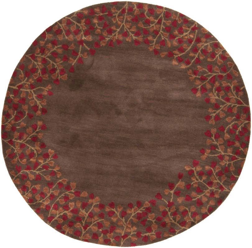 Surya ATH-5003 Athena Hand Tufted Wool Rug Red 6 x 6 Round Home Decor