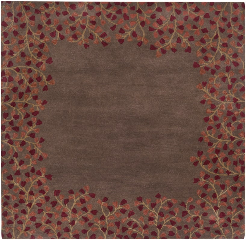 Surya ATH-5003 Athena Hand Tufted Wool Rug Red 6 x 6 Home Decor Rugs