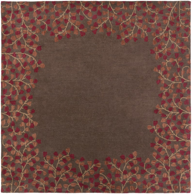 Surya ATH-5003 Athena Hand Tufted Wool Rug Red 8 x 8 Home Decor Rugs