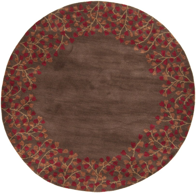 Surya ATH-5003 Athena Hand Tufted Wool Rug Red 9 1/2 x 9 1/2 Round