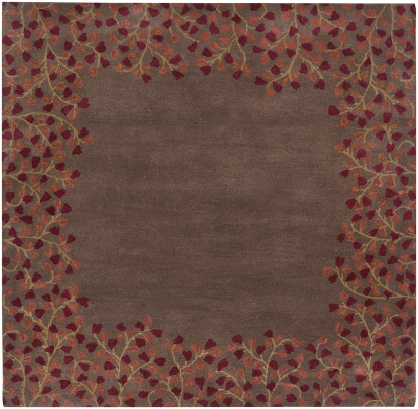 Surya ATH-5003 Athena Hand Tufted Wool Rug Red 9 1/2 x 9 1/2 Home