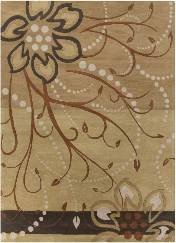 Surya ATH-5006 Athena Hand Tufted Wool Rug Brown 9 x 12 Home Decor