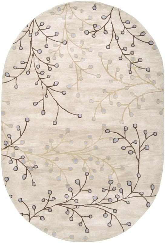 Surya ATH-5008 Athena Hand Tufted Wool Rug Gray 8 x 10 Oval Home Decor