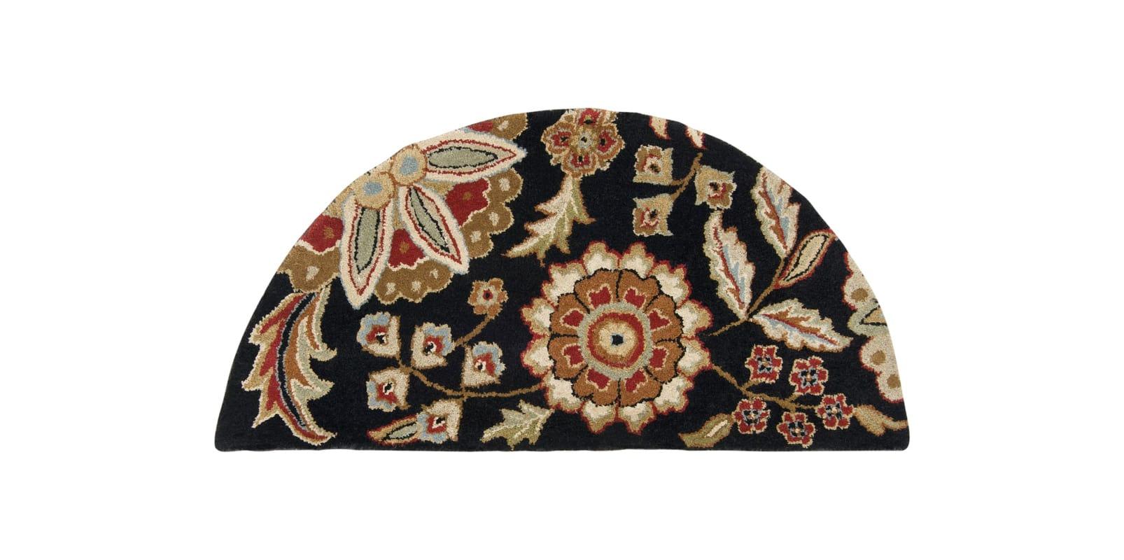 Surya ATH-5017 Athena Hand Tufted Wool Rug Black 2 x 4 Home Decor Rugs