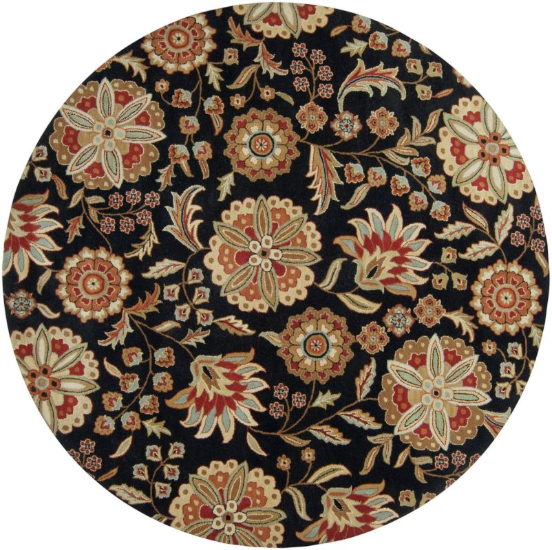 Surya ATH-5017 Athena Hand Tufted Wool Rug Black 9 1/2 x 9 1/2 Round Sale $1073.40 ITEM: bci2660099 ID#:ATH5017-99RD UPC: 764262325591 :