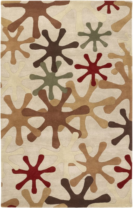 Surya ATH-5019 Athena Hand Tufted Wool Rug Brown 5 x 8 Home Decor Rugs