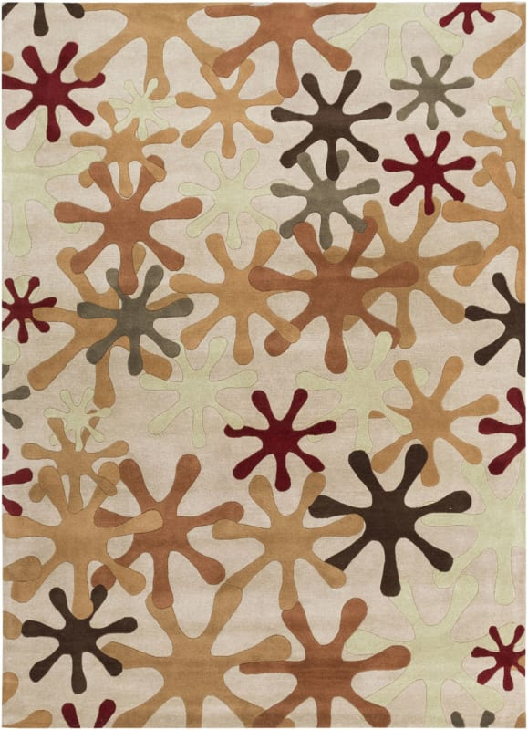 Surya ATH-5019 Athena Hand Tufted Wool Rug Brown 8 x 11 Home Decor