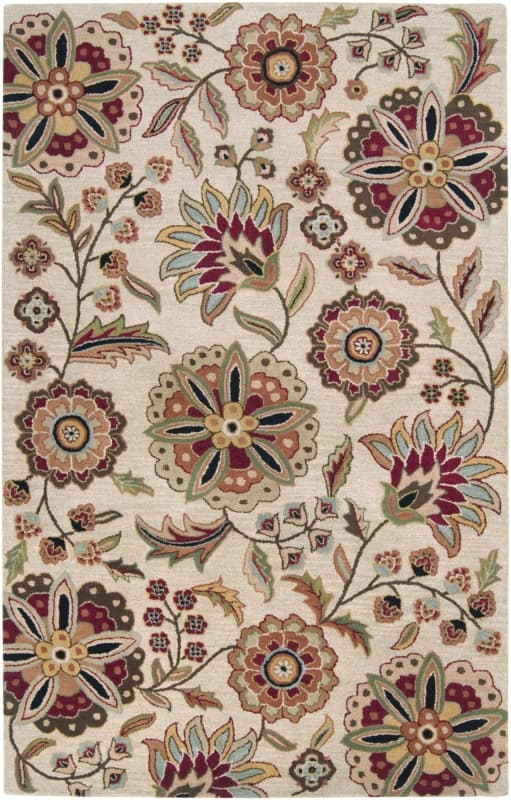 Surya ATH-5035 Athena Hand Tufted Wool Rug Brown 6 x 9 Home Decor Rugs