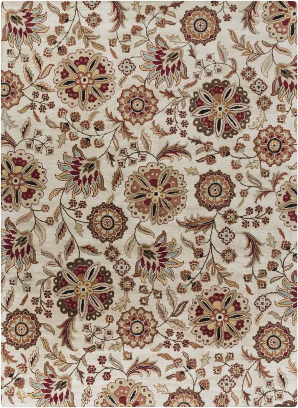 Surya ATH-5035 Athena Hand Tufted Wool Rug Brown 8 x 11 Home Decor