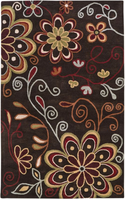 Surya ATH-5037 Athena Hand Tufted Wool Rug Brown 4 x 6 Home Decor Rugs