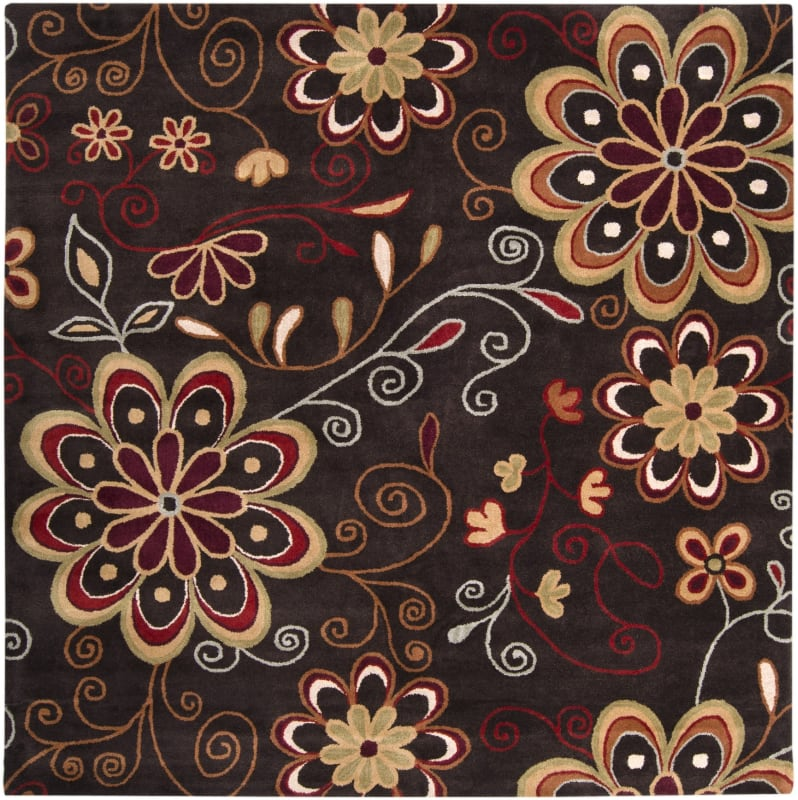 Surya ATH-5037 Athena Hand Tufted Wool Rug Brown 4 x 4 Home Decor Rugs