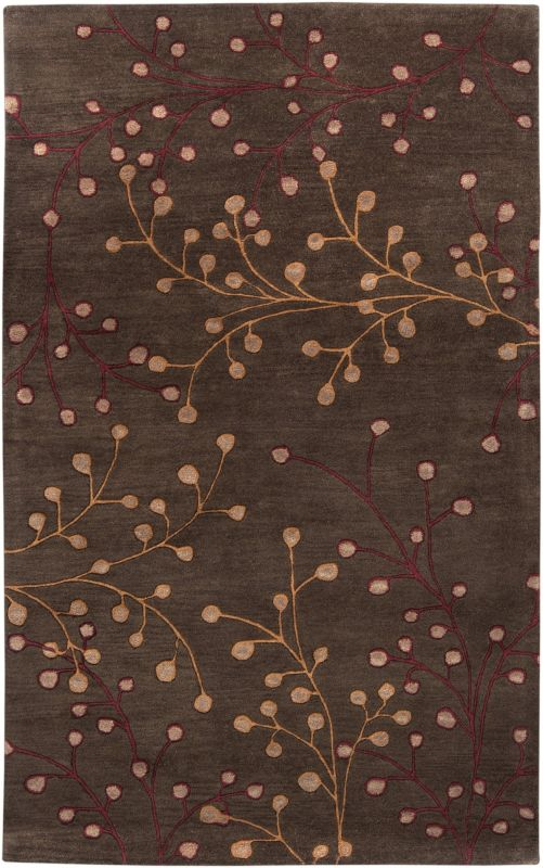Surya ATH-5052 Athena Hand Tufted Wool Rug Brown 10 x 14 Home Decor