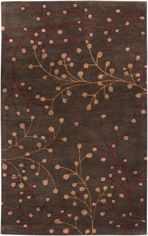 Surya ATH-5052 Athena Hand Tufted Wool Rug Brown 12 x 15 Home Decor