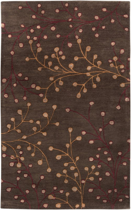 Surya ATH-5052 Athena Hand Tufted Wool Rug Brown 2 x 3 Home Decor Rugs