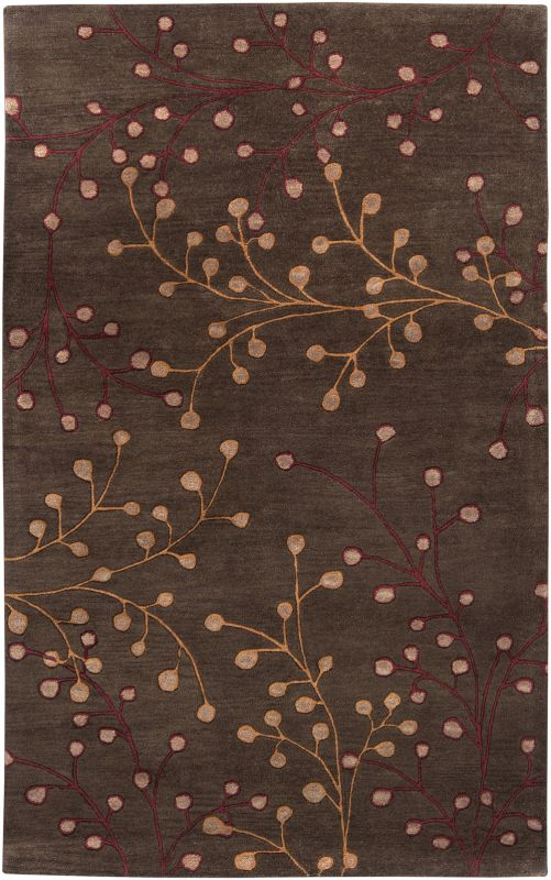 Surya ATH-5052 Athena Hand Tufted Wool Rug Brown 5 x 8 Home Decor Rugs