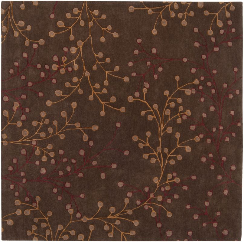 Surya ATH-5052 Athena Hand Tufted Wool Rug Brown 9 1/2 x 9 1/2 Home