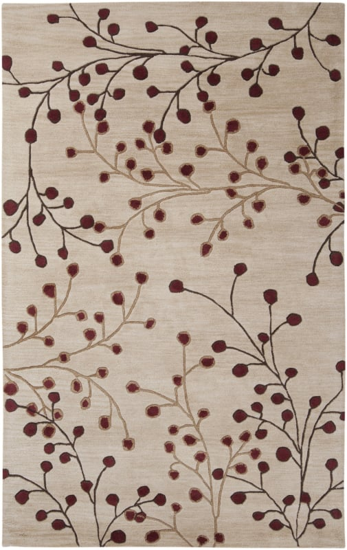 Surya ATH-5053 Athena Hand Tufted Wool Rug Red 7 1/2 x 9 1/2 Home