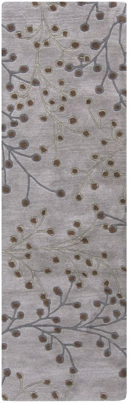 Surya ATH-5055 Athena Hand Tufted Wool Rug Gray 2 1/2 x 8 Home Decor