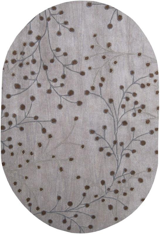 Surya ATH-5055 Athena Hand Tufted Wool Rug Gray 6 x 9 Oval Home Decor