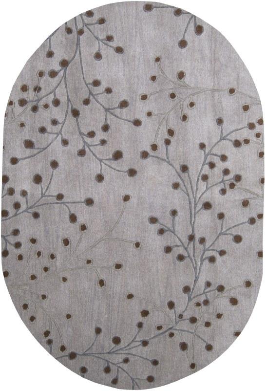 Surya ATH-5055 Athena Hand Tufted Wool Rug Gray 8 x 10 Oval Home Decor
